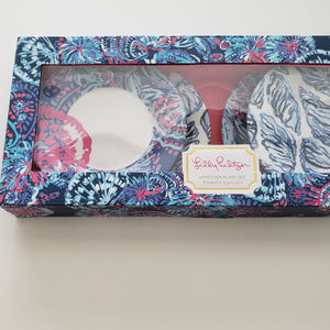 Lilly Pulitzer appetizer plate set (4 plates)
